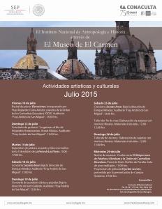 Cartel actividades julio
