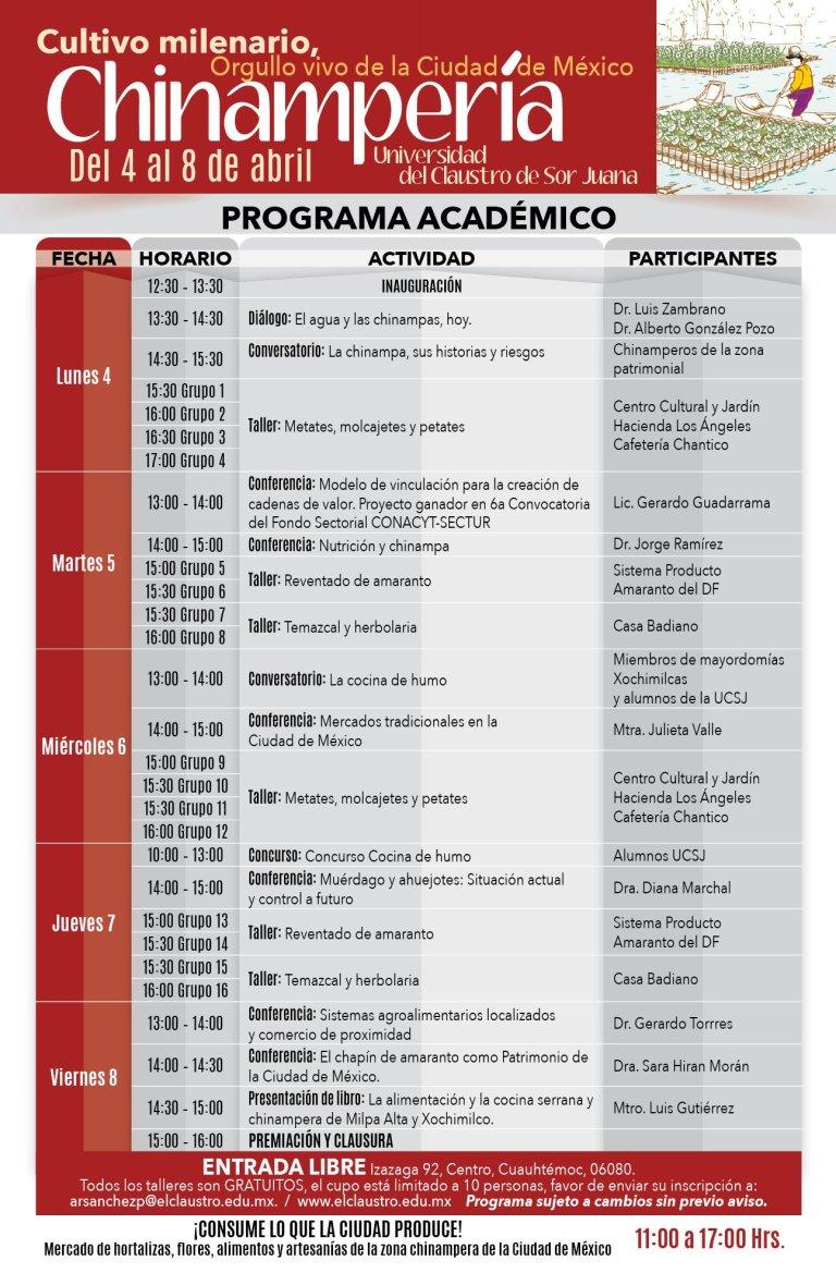 Programa Académico Chinampería 2016